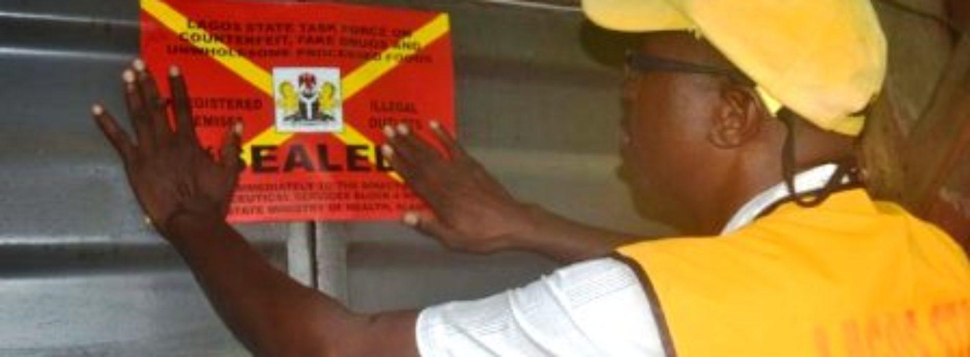 Lagos shuts 32 illegal. unregistered pharmacies and patent medicine stores