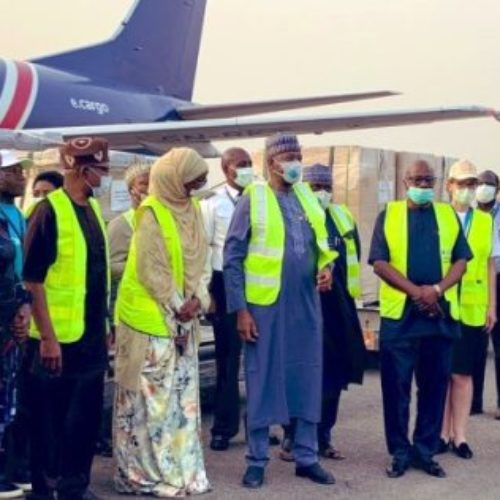 FG receives medical equipment to fight COVID-19