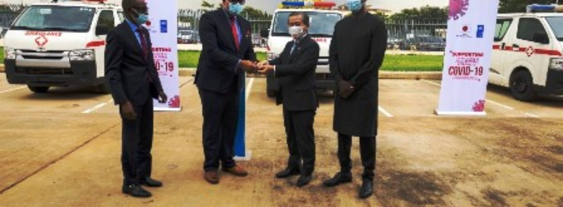 UNDP, Japan assist NCDC with ambulances to fight COVID-19